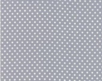 Moda Fabrics Basic Dots Grey - Dottie Small Dots Steel - Fabric -100% Cotton - 45009 66