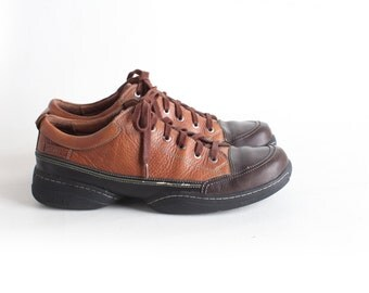 Size 13 Men's Brown Leather Lace up Oxfords, Clarks