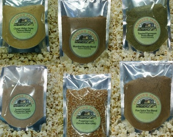7 Popcorn Seasoning and Poppping Corn Gift Pack