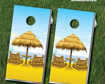 Beach Cornhole Game with Cornhole Bags