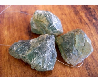 ON SALE 50% Raw Apatite Stone, Apatite Rough Stone, Apatite GemStone, Raw Gemstones, 3 Pieces, 22 To 25mm Each