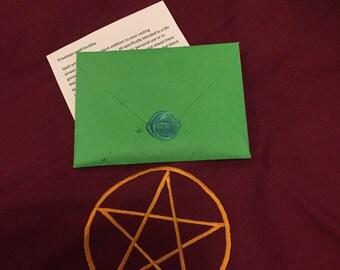 Fertility spell envelope