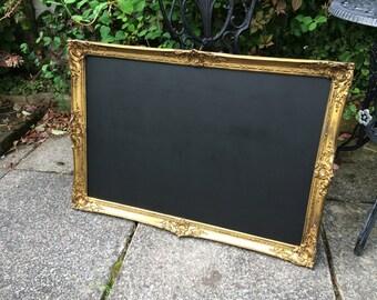 Gold chalkboard vintage gold chalkboard distressed chalkboard