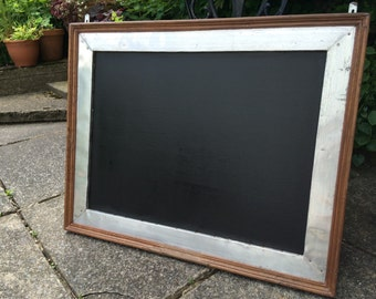 wooden chalkboard large chalkboard large menu blackboard chunky chalkboard menu oak