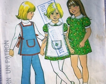 Child's Dress, Apron and Pants - Simplicity no 7064