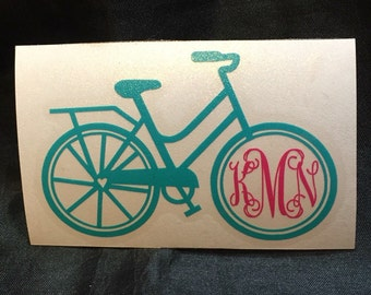 Bicycle Monogram Sticker Vinyl Decal