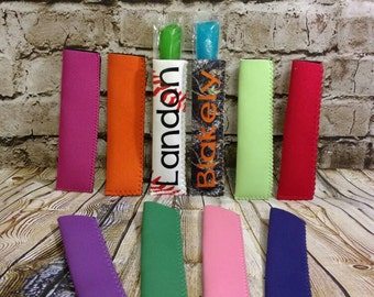 Popsicle holders, personalized popsicle holders, summer popsicle, popsicle sleeve