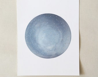Constellations Print with gold foil accent