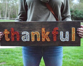 Thankful String Art - Made to Order