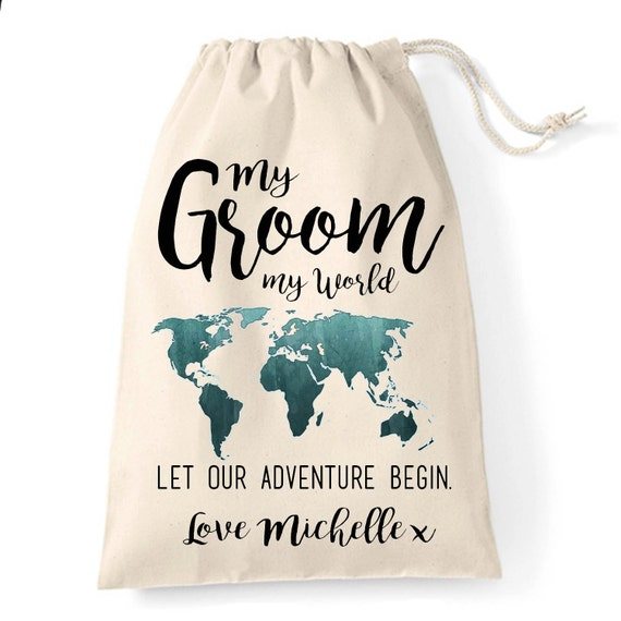 The Groom Wedding Day Cotton Gift Bag Wedding Morning
