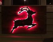 Pallet Reindeer with lights