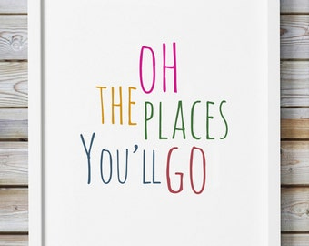 This is an image of Modest Oh the Places You'll Go Arrows Printable