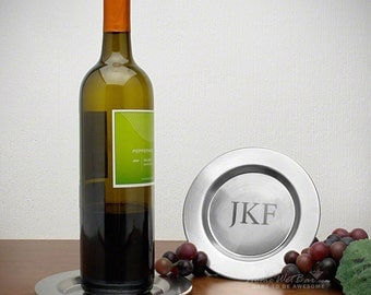 Perugia Personalized Wine Bottle Coaster - Custom Wine Coasters
