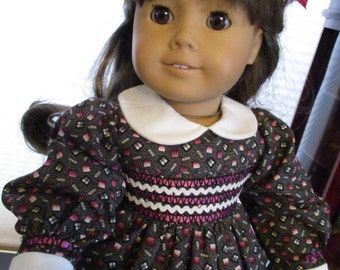 """Traditional """"Mock"""" Smocked Doll Dress Outfit to fit your 18"""" American Girl Doll"""