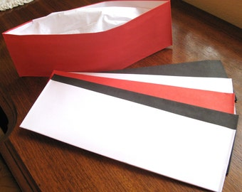 FREE SHIPPING ! 12 Hats ~ Red, Black and White Soda Jerk Party Hats