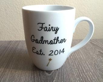 Fairy Godmother Mug, Disney Mug, Pregnancy Announcement Mug, Cinderella Mug, Aunt Mug