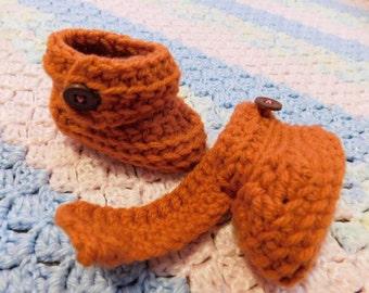 Pumpkin Baby Booties