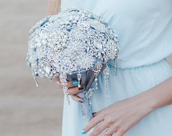 crystal bouquet\Brooch Bouquet\Jeweled bouquet\silver Brooch Bouquet
