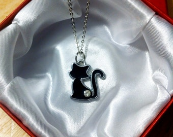 SALE! Lucky Black Cat Necklace
