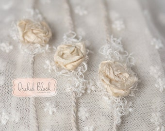 Baby tie back/headband, Just Natural, Photography prop