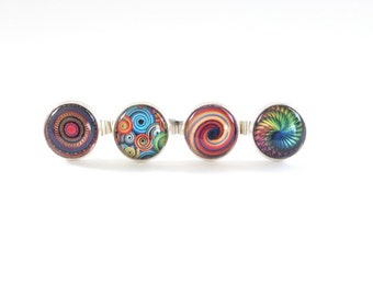statement ring, ring, jewelry, statement, costume jewelry, hippie, colourful, adjustable ring, teenage girl gift, gift for her, psychedelic