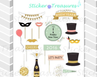 Pastel New Years [Planner Stickers]