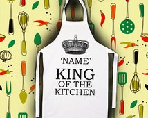 Personalised King/Queen Of The Kitchen Apron | Birthday | Mens | Ladies | Funny