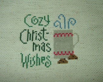 Completed Cross Stitch~Cozy Christmas Wishes