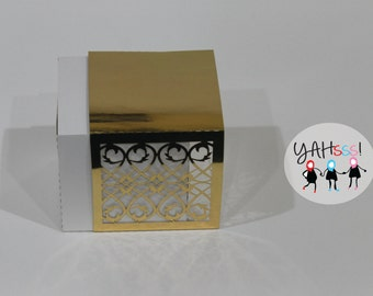 Gold Party Favor Box- Pack of 10