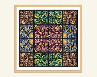 abstract circles cross stitch pattern
