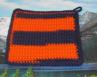 Hand crochet double thick hot pad CHP 010