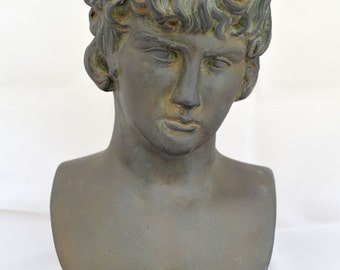 ON SALE Antinous, Antinoos statue bust the favourite of the Emperor Hadrian