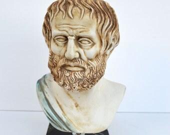 Ancient Greek philosopher Aristoteles big sculpture statue bust Aristotles