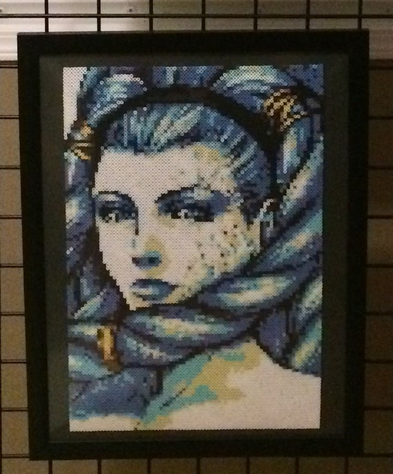 Final Fantasy X Shiva Perler Portrait