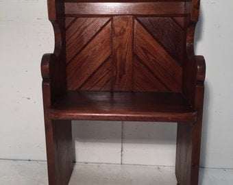 Pitched Pine Church Pew / Seat Circa 1880