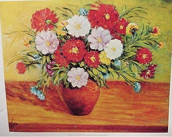 Print, Flowers by Joseph Links Artwork Reproduction, Floral & Gardens