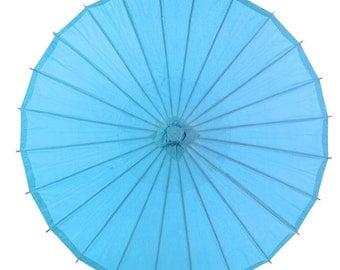 """28"""" Turquoise Paper Parasol Umbrella - 28PP-TU"""