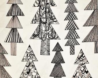 Marimekko fabric, Kuusikossa BW, by Maija Louekari, 145x50cm