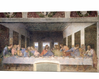 The Last Supper Leonardo Da Vinci Religious Item Canvas Print Religious Wall Art Print Ready to Hang