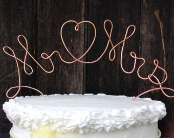 Mr and Mrs Cake Topper, Mr and Mrs, Wire Cake Topper, Wedding Cake Topper, Rustic Cake Topper, Mr and Mrs Topper, Custom Cake Topper, Topper