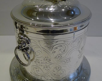 Magnificent English Silver Plated Biscuit Box by Mappin Brothers c.1880
