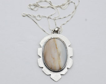 Sterling Silver Pendant with Jasper