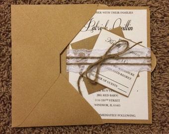 Wedding Invitations, Country Wedding invitations, Rustic wedding invitations