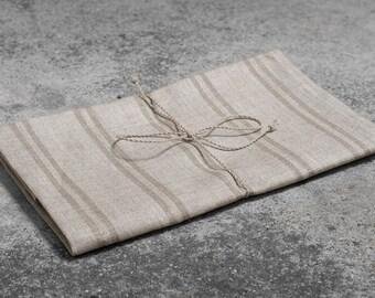 Linen Tea Towel, Natural Linen, Non Dyed Linen Kitchen Towel, Eco Kitchen Towel, Linen Gift