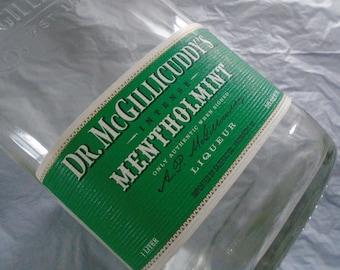 Dr. McGillicuddy's Mentholmint ~ Empty Bottle