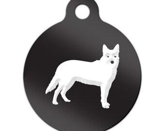 Australian Cattle Dog Engraved Round Key Chain Dog Tag heeler - MRD-269
