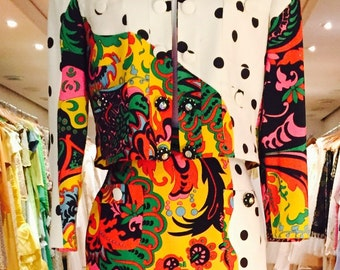 1980's Moschino Couture 2-Pce. Suit