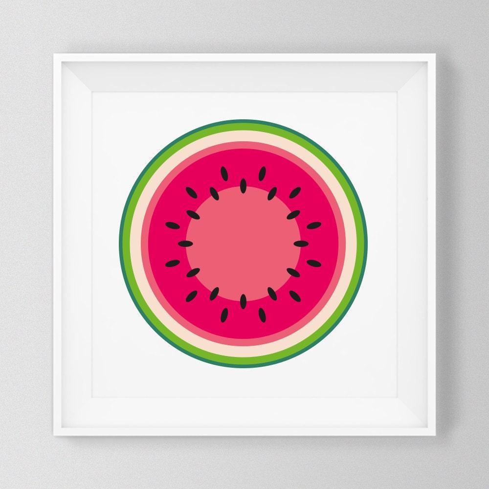 Black Fruits Splash Modern Kitchen Art Canvas Print Poster: Watermelon Print Fruit And Vegetable Prints Kitchen Art