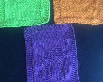 Dishcloths, Washcloths, Holiday dishcloths, Knitted dishcloths, knitted washcloths, dish cloth, wash cloth, Fall dishcloths, Knitted gifts