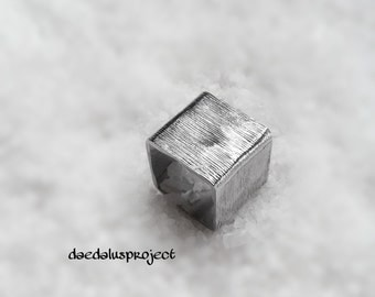 textured geometric ring, ring, ring, ring, geometric square handmade, jewellery, texturized rings, band rings